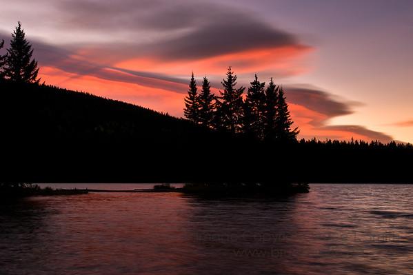 Sunrise over Two Jack Lake, Banff National Park