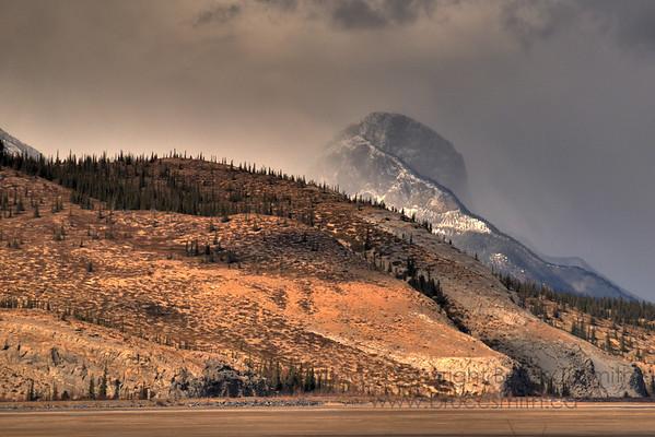 Threatening weather near Jasper, Alberta
