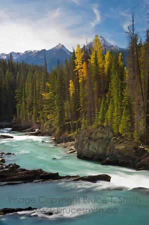 Kicking Horse River near Natural Bridge, Yoho National Park, British Columbia