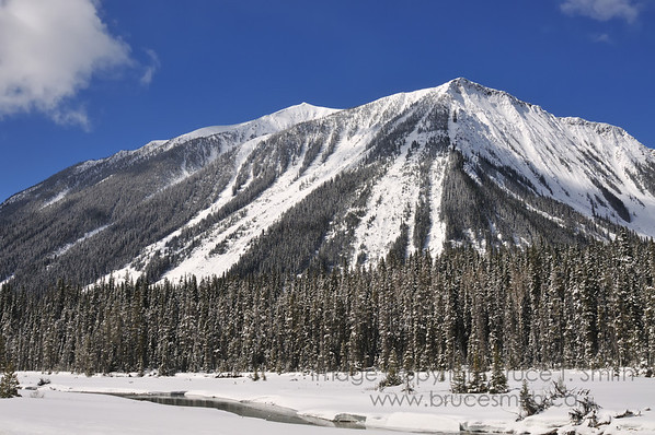 The Rocky Mountains between Banff and Radium Hot Springs.