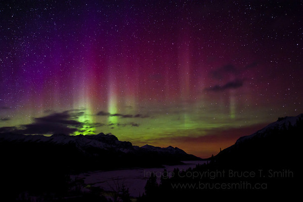 Amazing Aurora Borealis in the Rocky Mountains