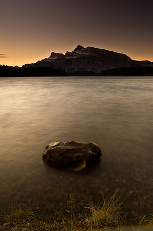 Early morning glow over Two Jack Lake, Banff National Park
