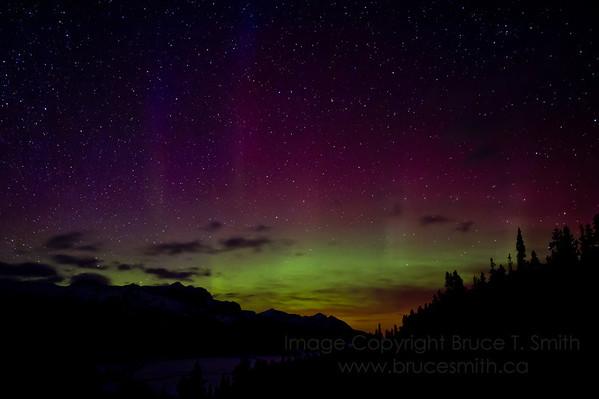 Incredible Aurora Borealis display over the Rocky Mountains - March 17, 2012.