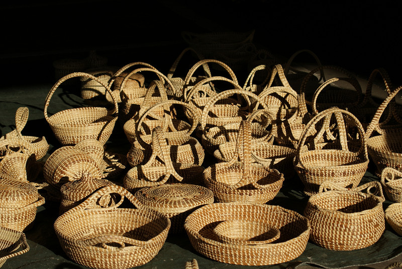 Sea grass baskets, Market St., Charleston