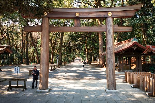 Inner gate at Meiji Jingu Temple