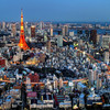 Tokyo Tower Lights up the City