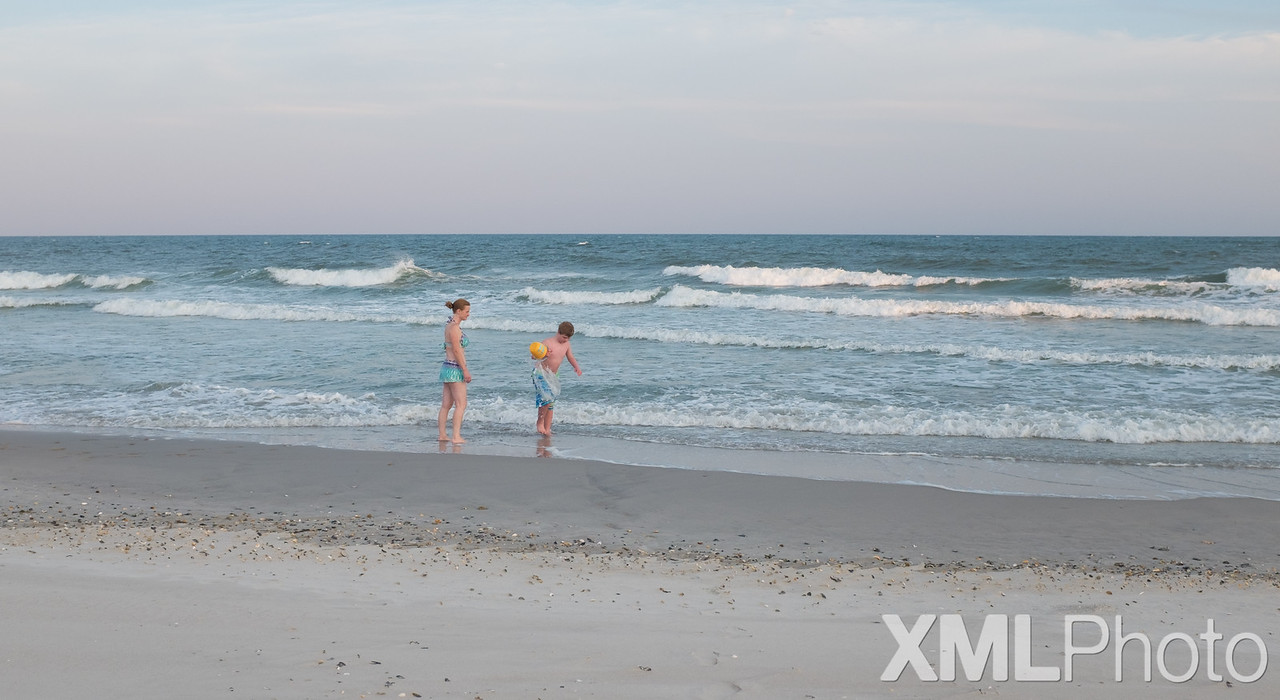 Marisa and Vincent at Topsail Beach - September 2015