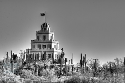 2017-0423 02 Tovrea Castle (_DSC0013 Monochrome 2 HDR-Edit) WM