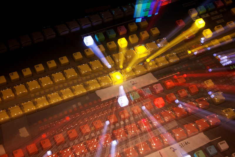 Abstract shot of the digital switcher in Edit 1.
