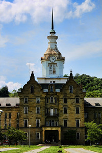 Front of the Trans Allegheny Lunatic Asylum. One of 11 remaining Kirkbride buildings. Trans-Allegheny Lunatic Asylum