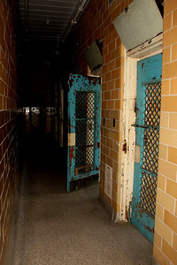 Down the lonely hall. Mens isolation area. With all the tile in this area screams and noise would have reverberated throughout. Trans-Allegheny Lunatic Asylum