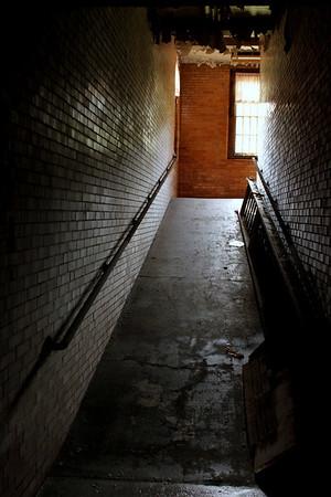 Wheelchair ramp in the Medical Center building. Trans-Allegheny Lunatic Asylum
