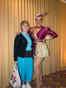 Janet with a Rockette, Radio City Music Hall, New York City