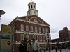 Wayne, Judy, Jill, Art in front of Faneuil Hall