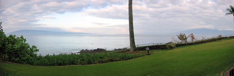 View from our lanai at the Sheraton Maui.