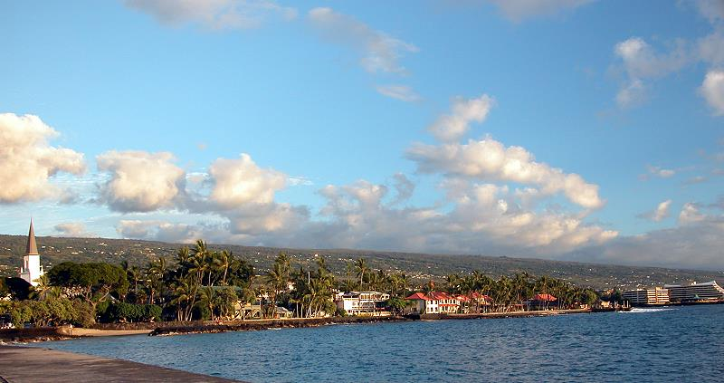 The town of Kona on the Big Island