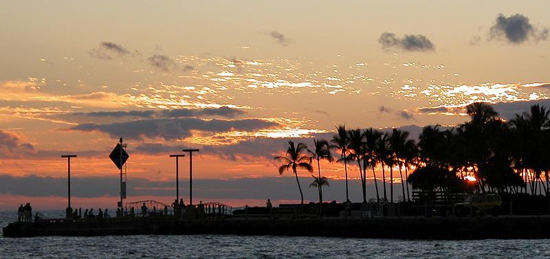 Sunset in Kona Hawaii