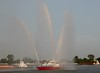 Fireboat on the Mississippi