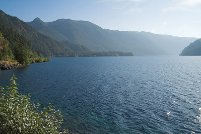 The drive around the Olympic peninsula on US 101 is gorgeous.  This is Lake Crescent.  It's a freakishly deep body of water.