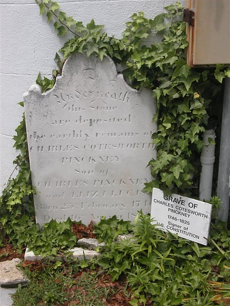 Grave of Charles Pinckney, one of the signers of the constitution