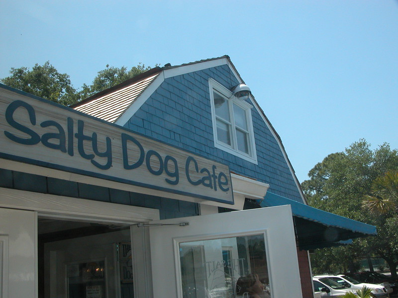 Salty Dog Cafe in South Beach Marina.