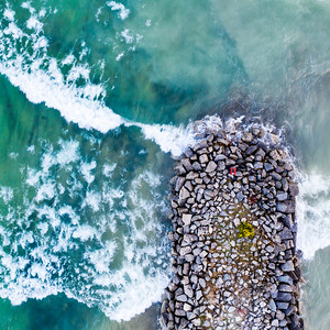 Elk Rapids Breakwall Aerial