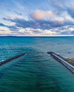 Elk Rapids Morning Clouds Aerial