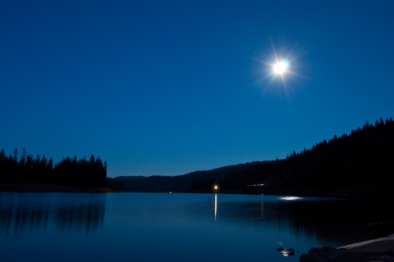 Full moon on Trinity Lake