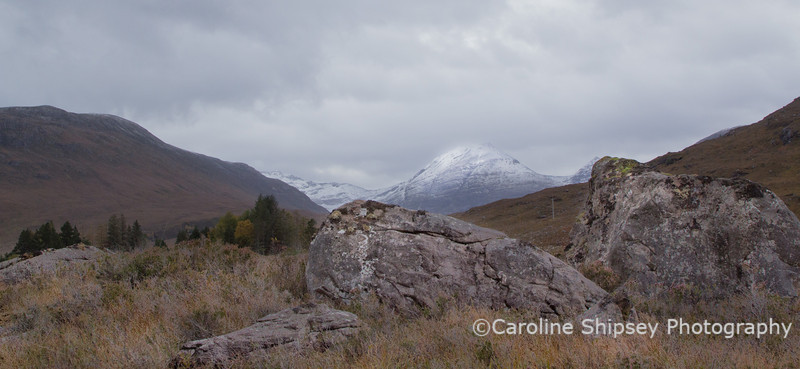 Not sure about this one. Could be looking to Glen Torridon or to Beinn Damh from Diabaig Road