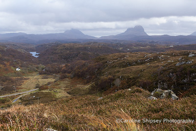 Canisp and Suilven, from Road to Clachtoll, (above Achadhantuir), North of Lochinver