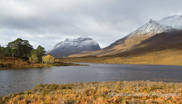 Liathach and Beinn Eighe from Loch Clair, Glen Torridon