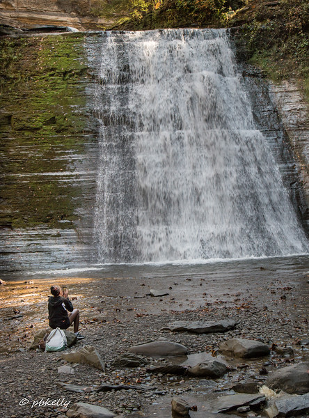 At the waterfall, this girl sat down, took a few camera shots, and then just sat and contemplated.  It was peaceful and powerful at the same time.