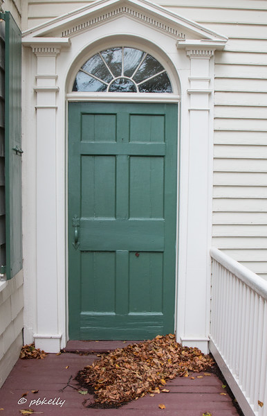 We were sitting on the porch of the John Jay House waiting for the tour and  I got into this door.