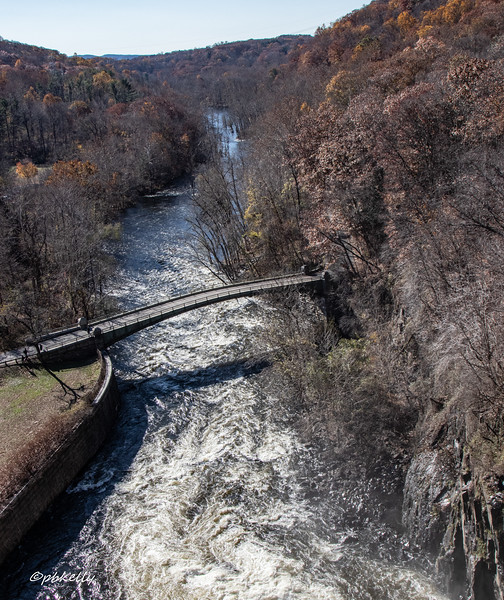 View from above the dam, downstream.  I'm told this can sometimes be no more than a trickle.