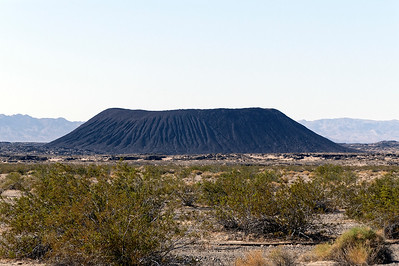 Cinder cone in the Mojave