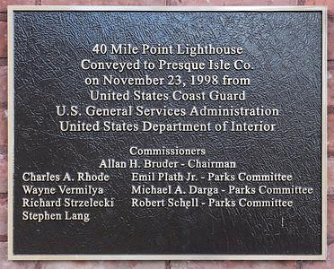 40 Mile Light Plaque