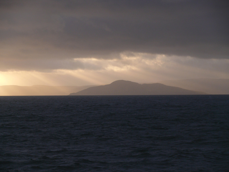Sunset over Arran.<br /> 7th January 2012