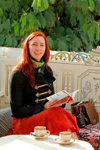 Hanna reads in Tunisia