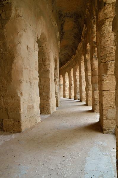 Inside the Roman Amphitheater, El Jem