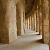 Inside the Roman Amphitheater, El Jem