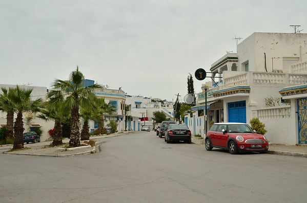 Neighborhood street, near Sidi Bou Said