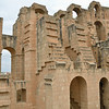 Newer section of amphitheater, El Jem