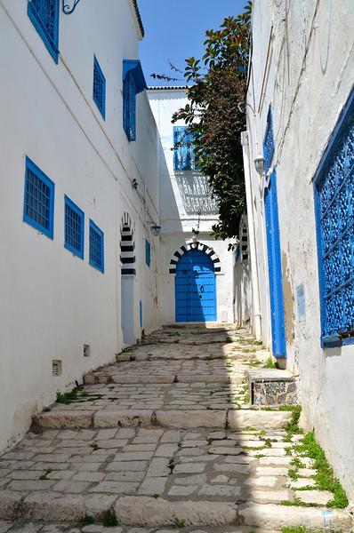Stairway to door, Sidi Bou Said