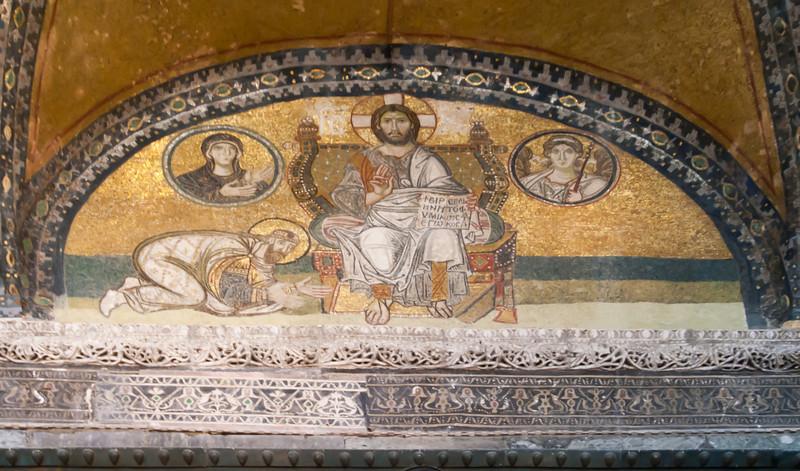 Mosaic in Hagia Sophia.