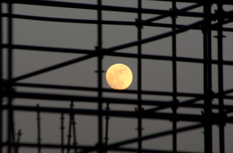 Full Moon through construction.