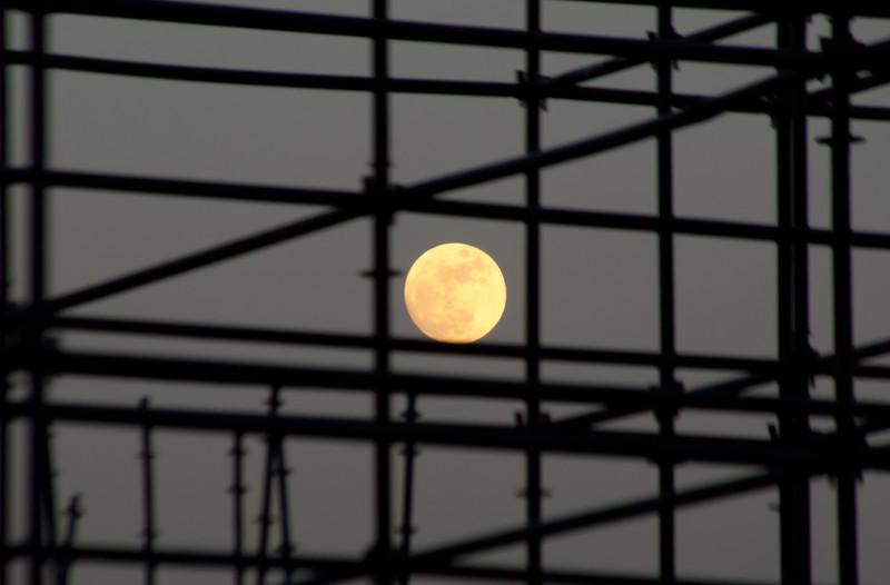 Full Moon through construction.