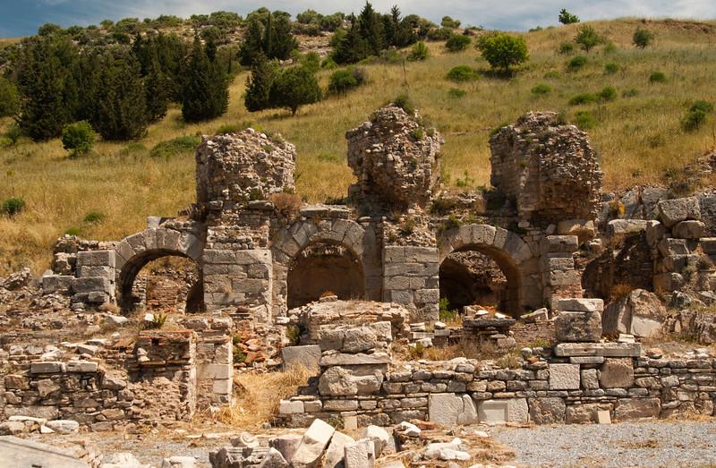 Ephesus ruins of Upper Gymnasium Baths.