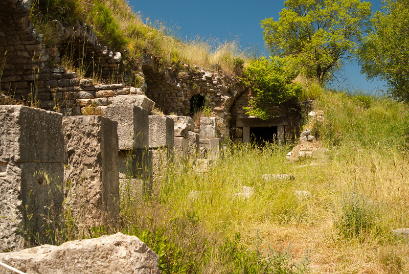 Hillside right of the Temple of Domitianus.
