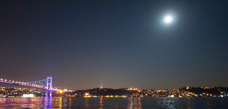 Full Moon over the Bosphorus.