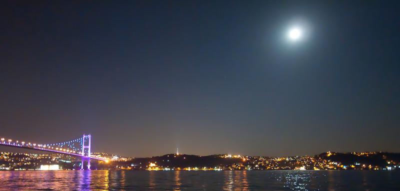 Full Moon over the Bosphorus.